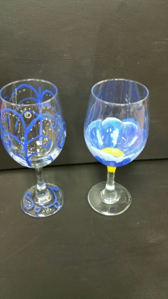 Glass - Blue and Yellow