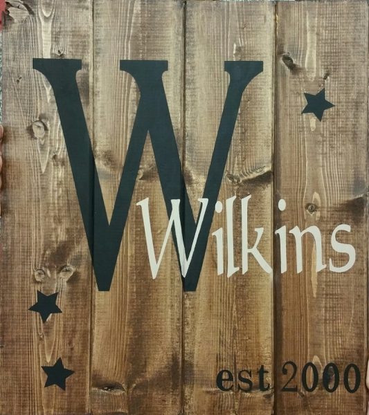 Name sign Wilkins(14x16)
