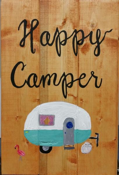 Wood Happy Camper (10x16)