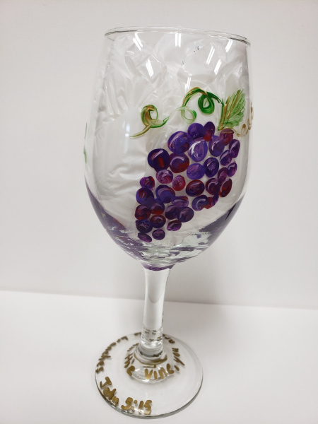 Glass - Grapes