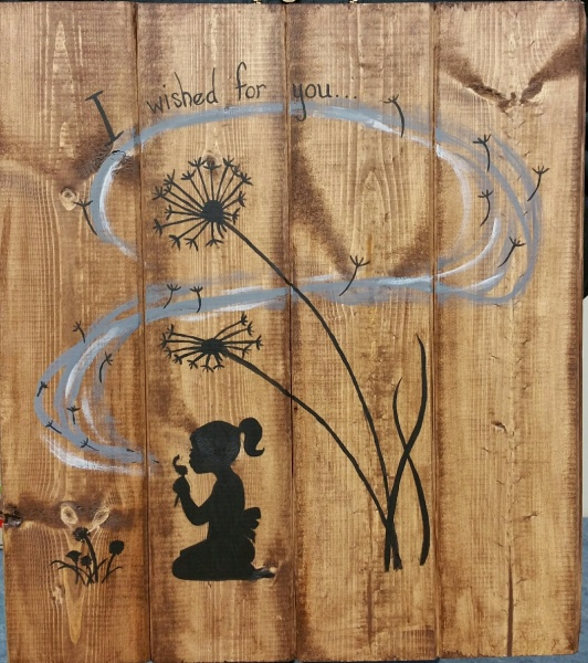 Wood  I wished for you (14x16)