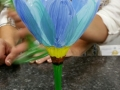 Wine Glass - Blue Tulip