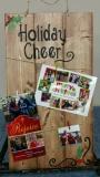Wood Card Holder - Holiday Cheer (10x19)