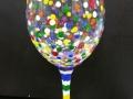 Wine Glass - Colorful Birthday Confetti