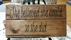 Wood She believed She Could (9x19)