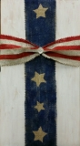 Wood Burlap Cross - flag (10x19)