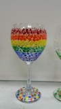 Glass Rainbow Dots sideways