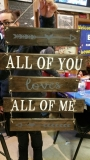 Wood All of Me Loves All of You -separate(19 inches)