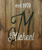 Name sign Micheel(14x16)