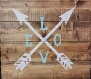 Wood Love Arrows (14x16)
