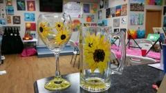 Glass Sunflowers