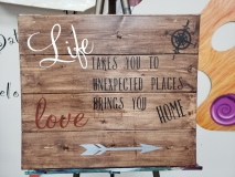 Wood Life takes you to ...Love brings you (14x16)