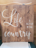 Wood -Life is better in the Country
