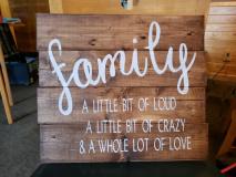 Wood -Family.. Alittle bit of love