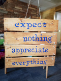 Wood - Expect nothing appreciate everything