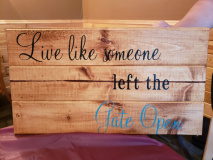 Wood -Live like someone left the Gate open