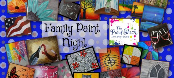family paint night ground round the paint shack